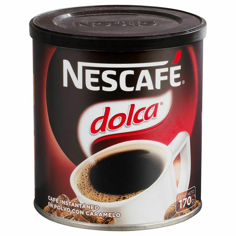 Café instantáneo con caramelo Nescafé Dolca 170 gr