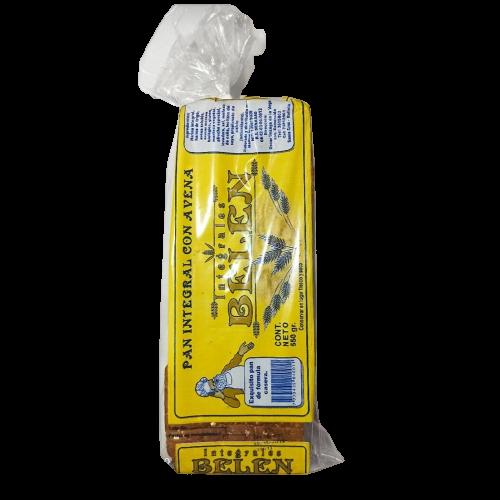 Pan molde integral con avena Panadería Belén - 1 bolsa