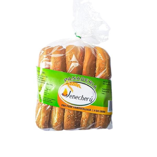 Pan para hamburguesa grande Panadería Jenecherú - 1 bolsa de 10 unidades
