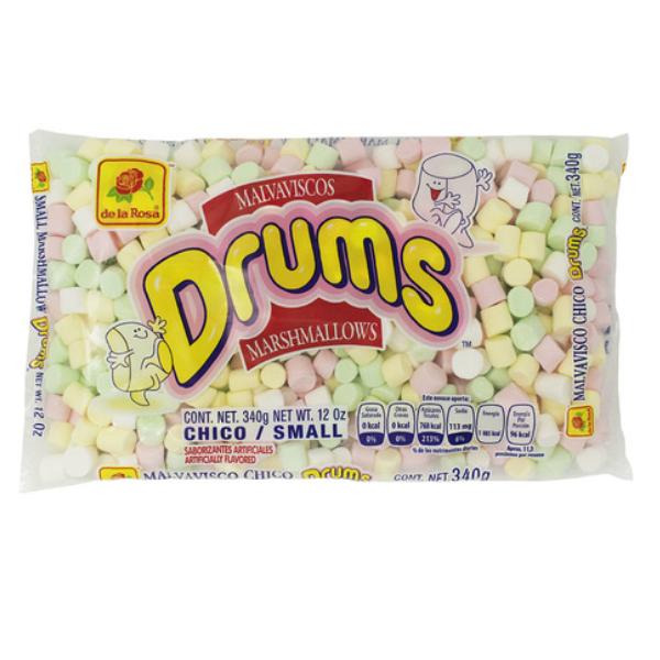 Malvaviscos chicos Marshmallows Drums 340 gr