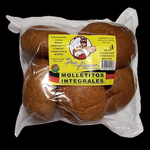 Molletes integrales Panadería Pan Alemán - 1 bolsa
