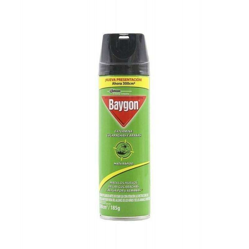 Insecticida Baygon verde mata cucarachas y arañas 185 ml