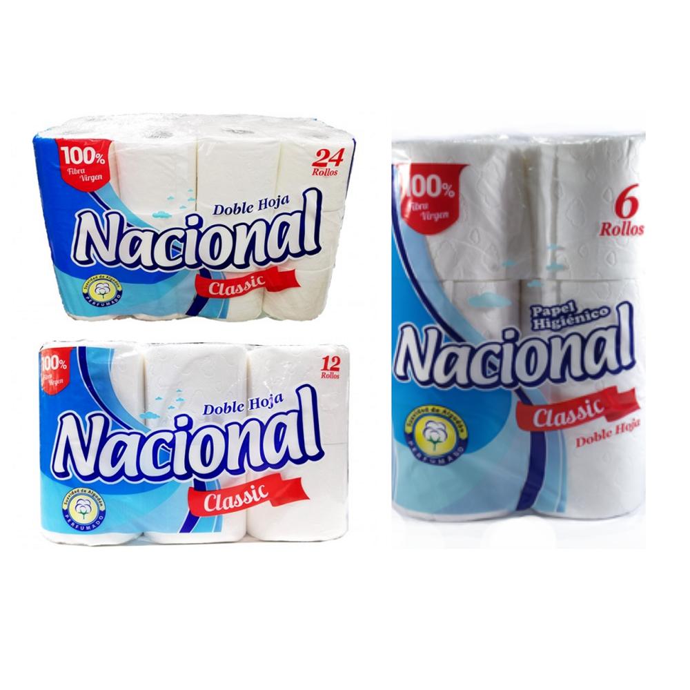 Papel higiénico Nacional doble hoja