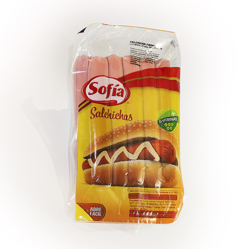 Salchicha Frankfurt de 14 cm al vacío Sofía 1 paquete de 10 unidades