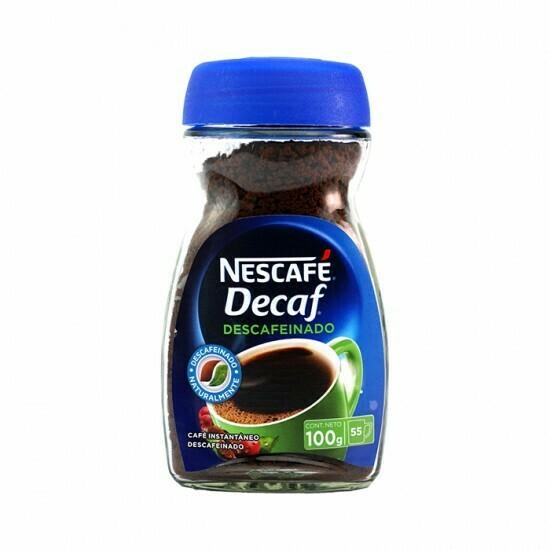 Café descafeinado Nescafé 100 gr