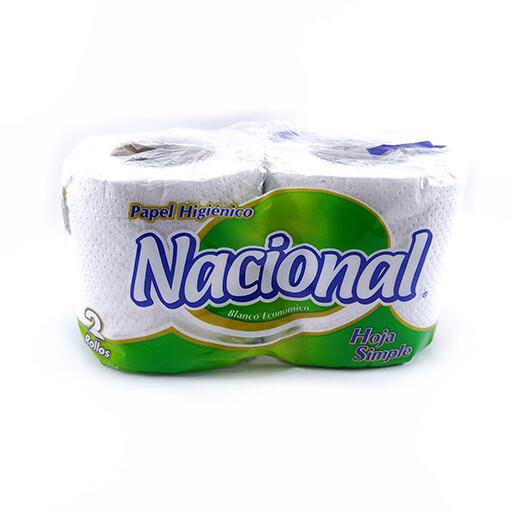 Papel higiénico Nacional Hoja simple 2 Rollos