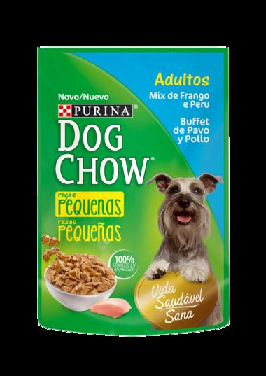Comida húmeda Purina Dog Chow Adultos raza pequeña sabor pavo y pollo 100 gr