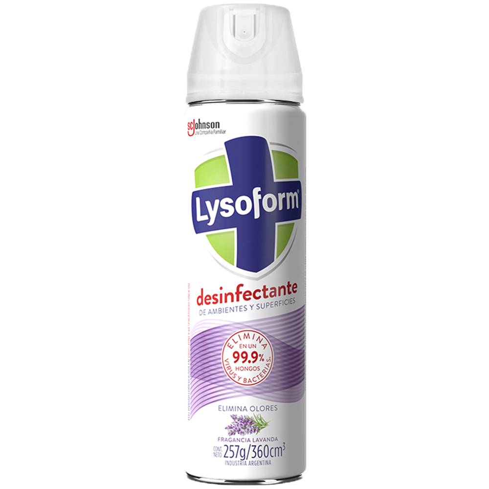 Desinfectante spray Lysoform  fragancia lavanda 360 cm3