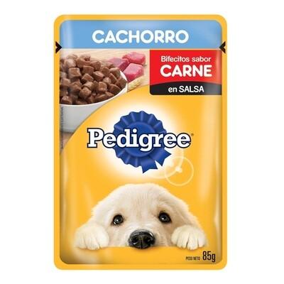 Comida húmeda Pedigree Cachorro en sobre sabor carne 85 gr