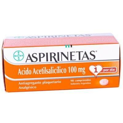 Aspirinetas Bayer 100 mg
