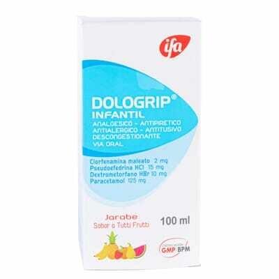 Dologrip infantil jarabe sabor tutti frutti 100 ml