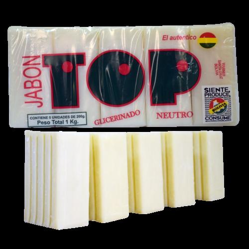 Jabón en barra TOP 1 kg (5 unidades x 200 gr)