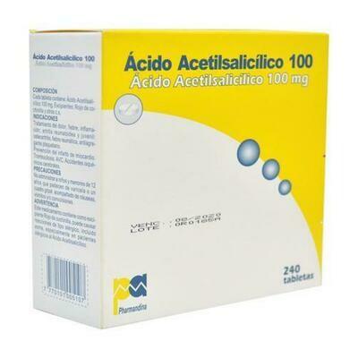 Ácido acetil salicílico 100 mg