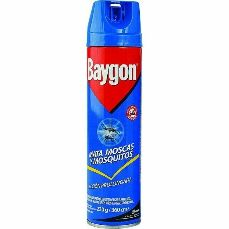 Insecticida Baygon azul mata mosca y mosquitos 360 cm3