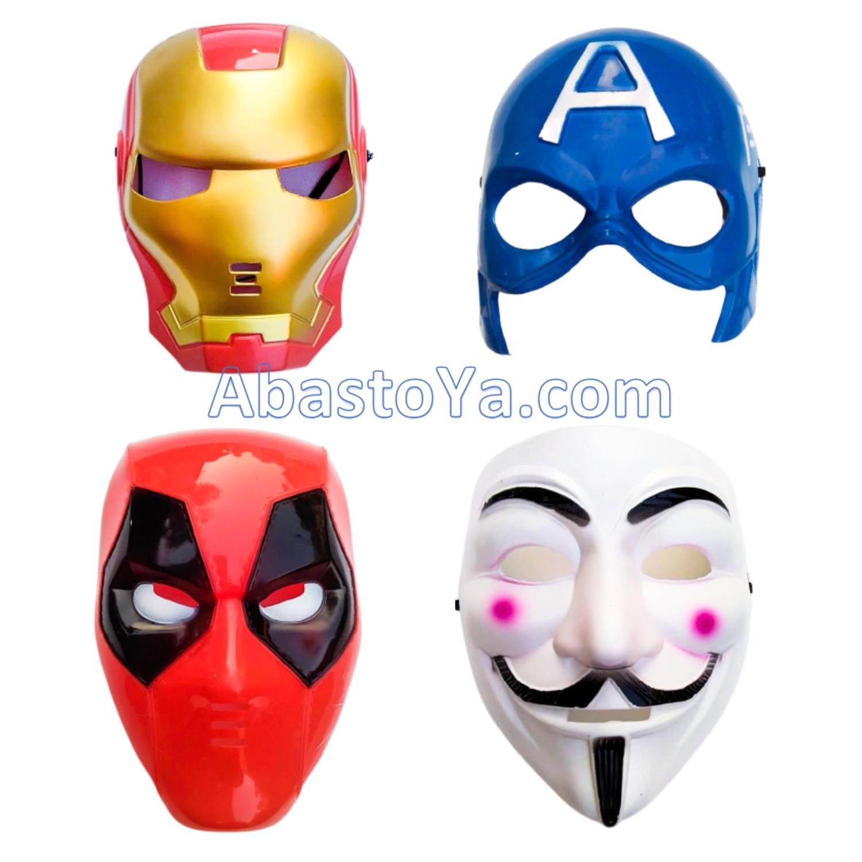 Máscaras de superhéroes de Marvel y Anonymous