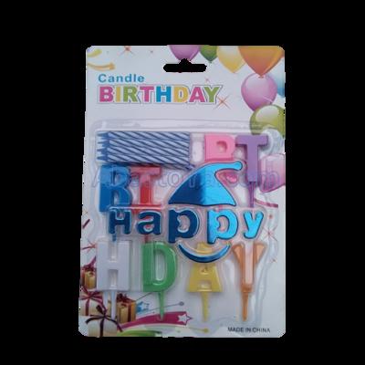 Velas con letras Happy Birthday