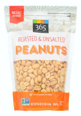 Peanuts Roasted and Unsalted