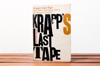 Krapp's last tape, Samuel Beckett, An Evergreen original, Grove Press, 1960