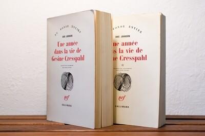 Une année dans la vie de Gesine Cresspahl, I, II, III, Uwe Johnson, nrf Gallimard, 1975, 1978, 1979