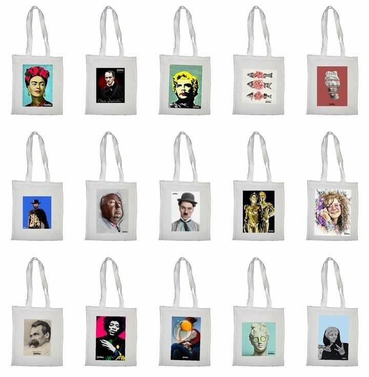 Πάνινη τσάντα με ποπ στάμπα/Cloth bag with a pop art stamp, Bibliothèque, 2020