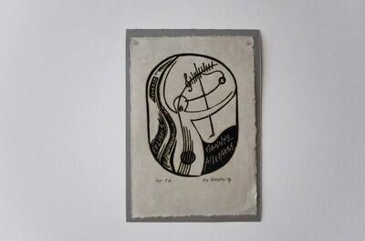 Λινόλεουμ (υψιτυπία), imp. E.A., χειροποίητο γιαπωνέζικο χαρτί, 2008