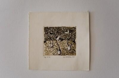 Χαλκογραφία (βαθυτυπία), imp. A.P. II, χειροποίητο χαρτί Fabriano, 2010