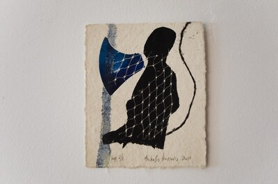 Μονοτυπία, imp. 1/1, χειροποίητο βαμβακερό χαρτί Nepal, 2011