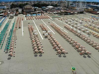 1 Ombrellone + 2 Sdraio + Opzione Lettini (servizio piscine e ristorante sospesi)