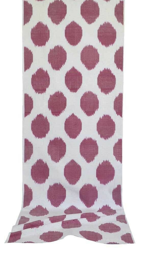 Lavender polkadot ikat fabric