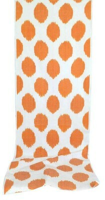 Orange polkadot ikat fabric