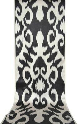 Black and white ikat fabric