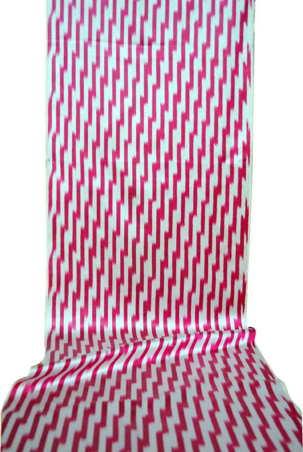 Pink ikat fabric by the yard