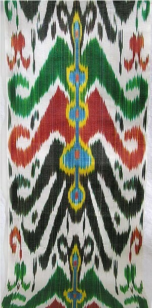 """Bahtim"" handwoven ikat fabric"