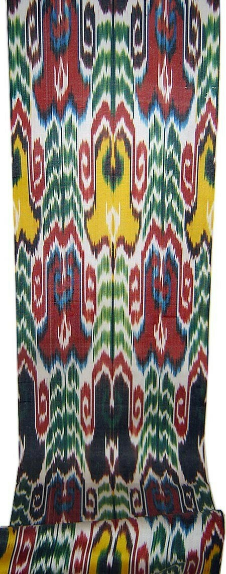 """""""Summer in a full swing"""" handwoven ikat fabric"""