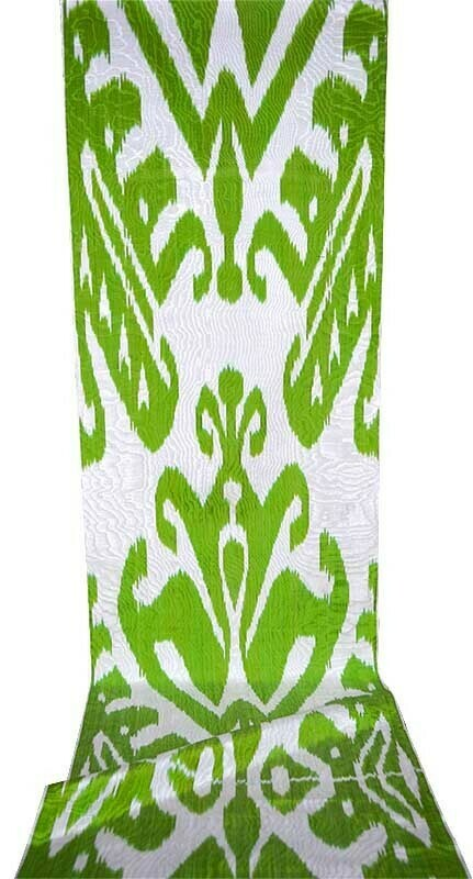 """Lemongrass"" ikat adras fabric"
