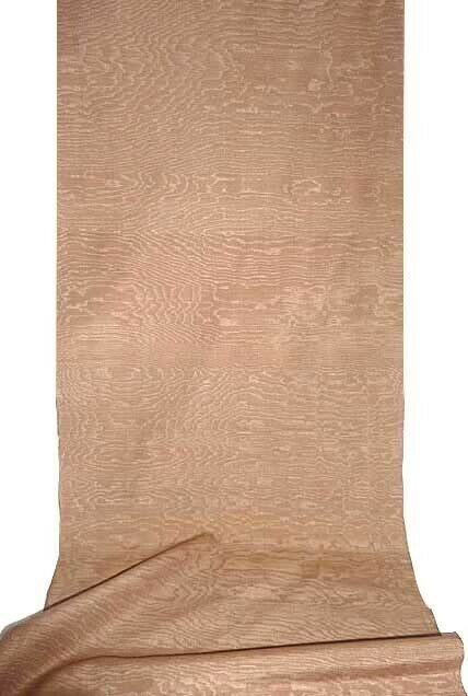 Beige solid moire fabric