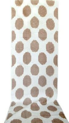 Brown polkadot ikat fabric