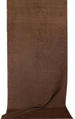 Chocolate brown solid moire fabric