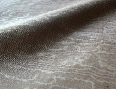 Cappucino brown solid moire fabric