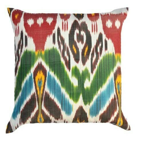 """""""Clean slate""""  ikat pillow cover"""