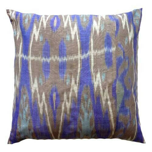 """Lavender"" ikat pillow cover"