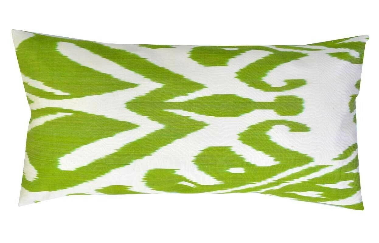 """""""Lemongrass"""" lumbar ikat pillow cover"""