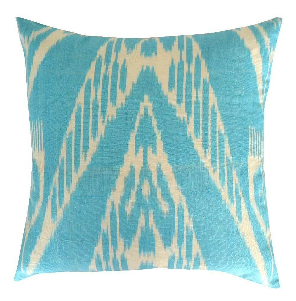 """As Is - """"Charoz"""" square ikat pillow cover"""