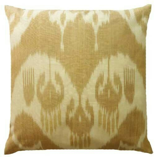 """""""Biologico"""" square ikat pillow cover"""