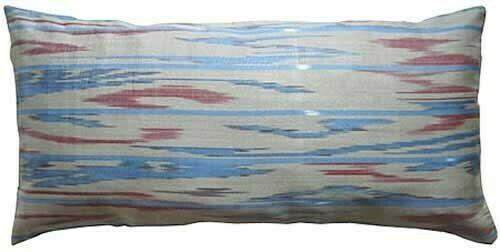 """""""Water ripples"""" lumbar ikat pillow cover"""