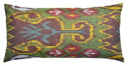 """""""Kuz"""" lumbar ikat pillow cover"""