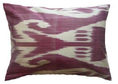 """""""Pale plum"""" boudoir ikat pillow cover"""