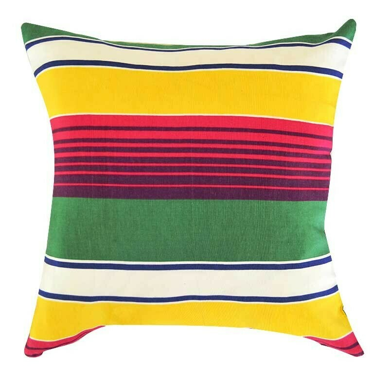 """Bold statement in stripes"" square pillow cover"