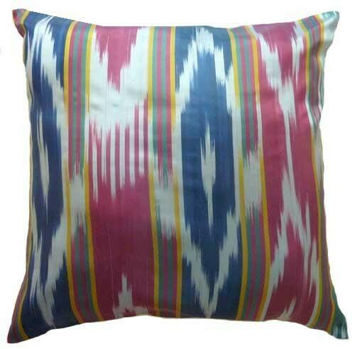 """Uzbek SSR textile II"" euro size ikat pillow cover"