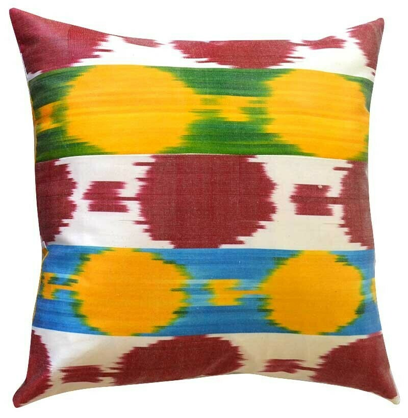 """As Is - """"Fruity and juicy"""" square pillow cover"""